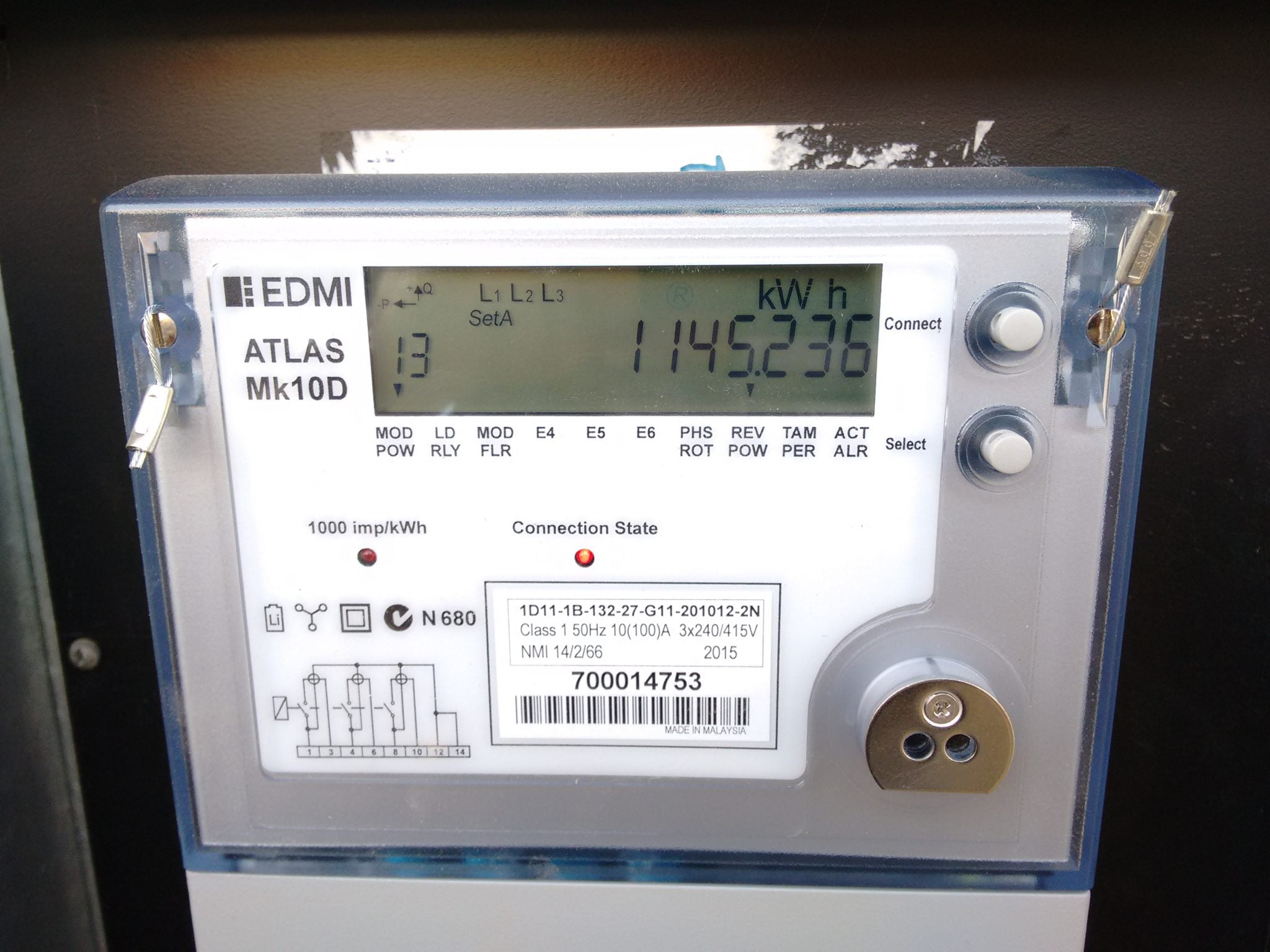 Electronic Electric Meter : Electricity metering changes to come into effect on december