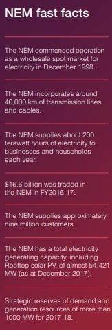 Facts about the NEM