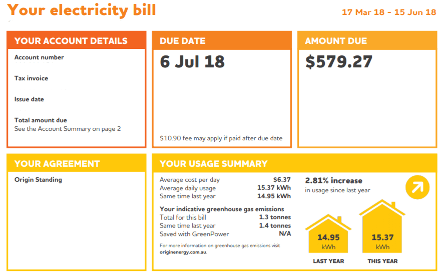 how to read a bundled electricity invoice